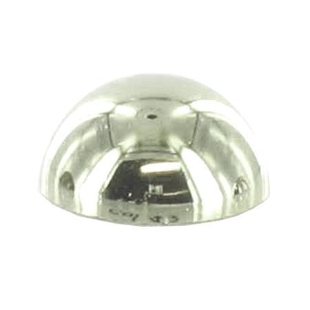 Bouton à queue 1/2 boule argenté  - 1,2 cm