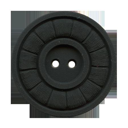 Bouton 2 trous noir - 1,5 cm