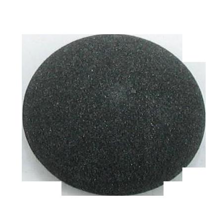 Bouton à queue ''imitation daim'' gris foncé - 2,5 cm