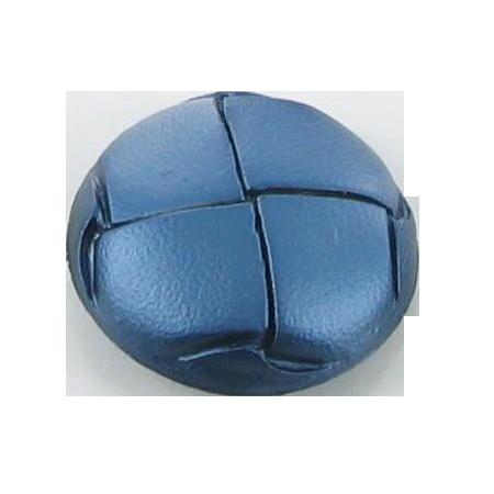 Bouton à queue ''imitation cuir'' bleu turquoise - 1,5 cm