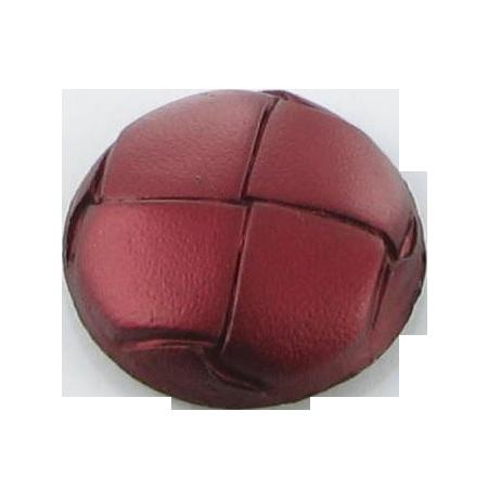 Bouton à queue ''imitation cuir'' framboise - 2 cm