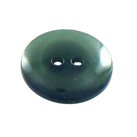 Bouton 2 trous transparent vert olive - 1,4 cm
