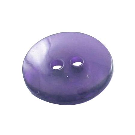 Bouton 2 trous transparent violet - 1,4 cm