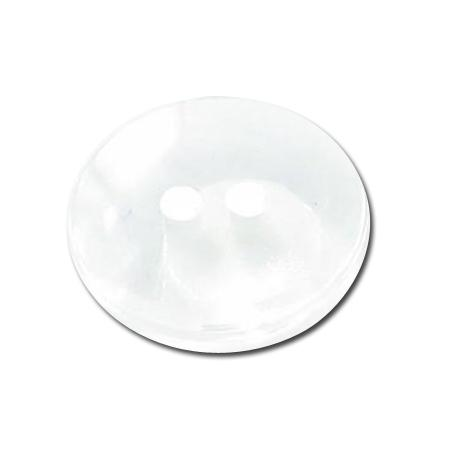 Bouton 2 trous transparent blanc - 1,8 cm