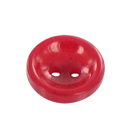 Bouton 2 trous rouge - 1 cm