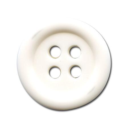 Bouton 4 trous blanc - 1,4 cm
