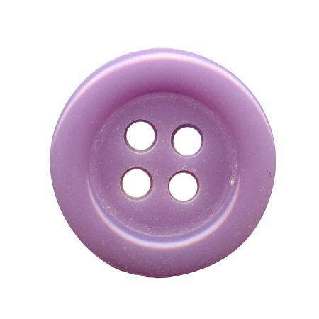 Bouton 4 trous mauve - 1,4 cm