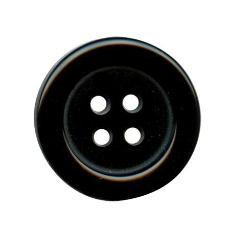 Bouton 4 trous noir - 1,8 cm