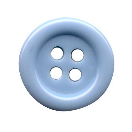 Bouton 4 trous bleu ciel - 1,8 cm