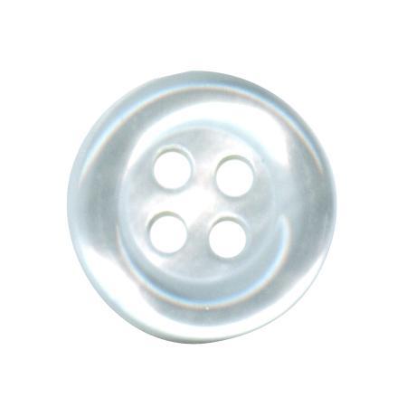 Bouton 4 trous chemise blanc - 1 cm