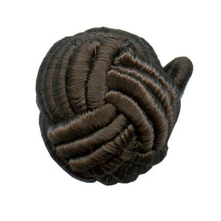 Bouton à queue boule passementerie chocolat - 1,2 cm