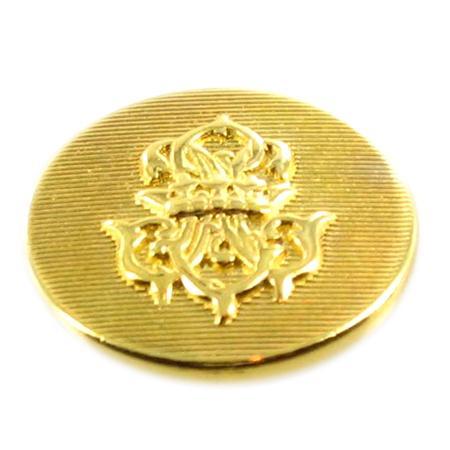 Bouton à queue ''armoirie'' doré - 2 cm