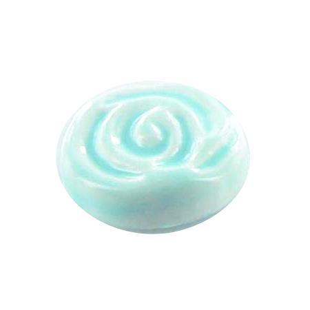 Bouton à queue ''fleur'' vert pâle - 1 cm