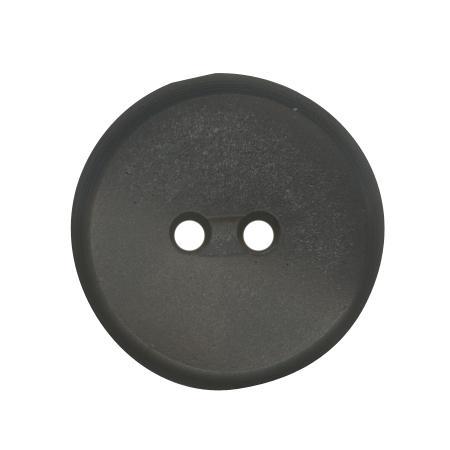 Bouton 2 trous plat  gris foncé - 1,2 cm
