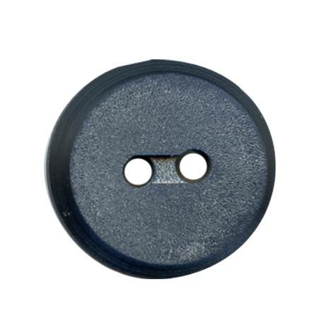 Bouton 2 trous plat  bleu marine - 1,2 cm