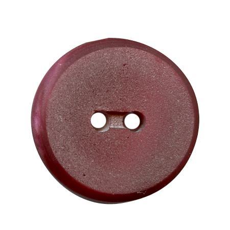 Bouton 2 trous plat bordeaux - 1,2 cm