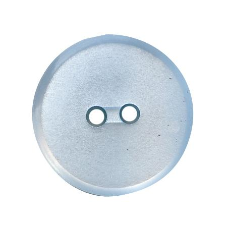 Bouton 2 trous plat  bleu ciel - 1,2 cm
