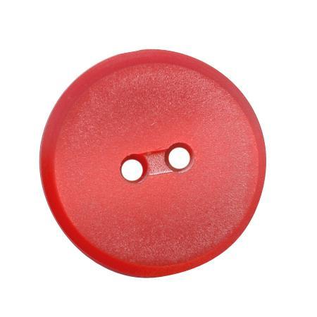 Bouton 2 trous plat rouge - 1,4 cm
