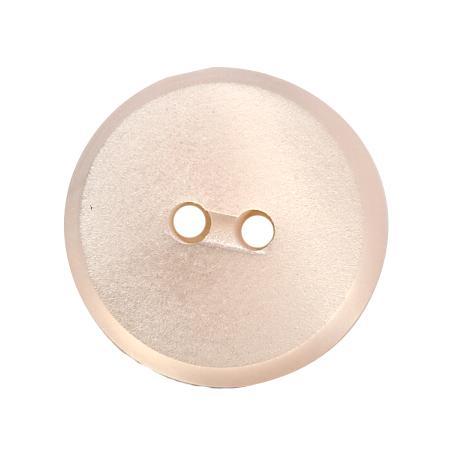 Bouton 2 trous plat rose pâle - 1,8 cm