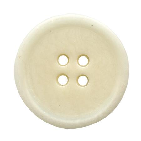 Bouton 4 trous ''corozo'' ivoire - 1,5 cm