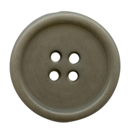 Bouton 4 trous ''corozo'' gris - 1,5 cm