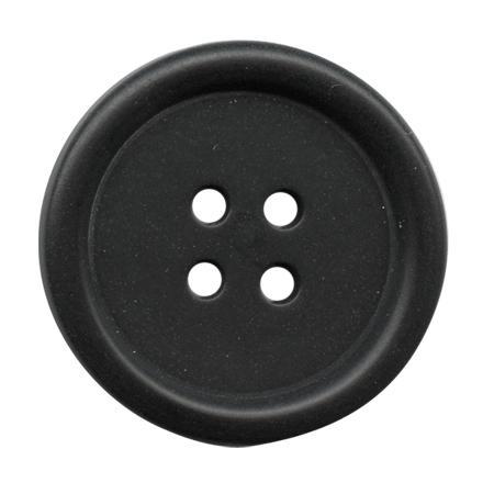 Bouton 4 trous ''corozo'' noir - 2 cm