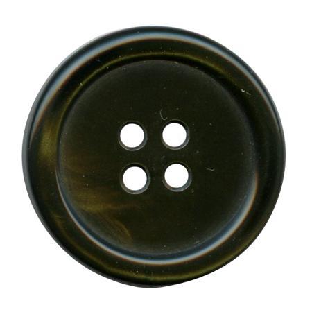 Bouton 4 trous  vert olive - 2,5 cm