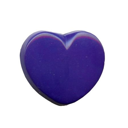 Bouton à queue ''coeur'' - Bleu roi