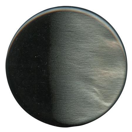Bouton tunnel ''effet nacre'' gris fonçé - 4,4 cm