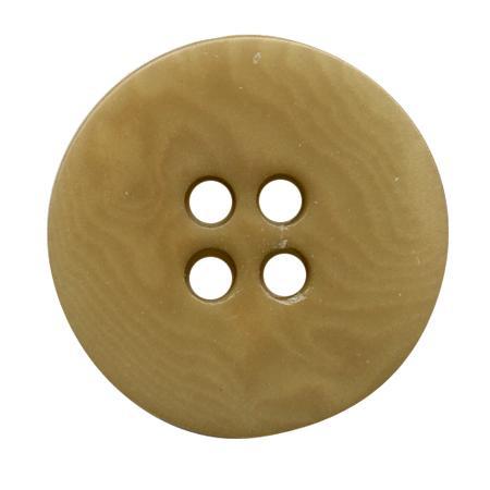 Bouton 4 trous ''corozo'' sable - 1,5 cm
