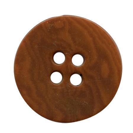 Bouton 4 trous ''corozo'' marron - 2,3 cm