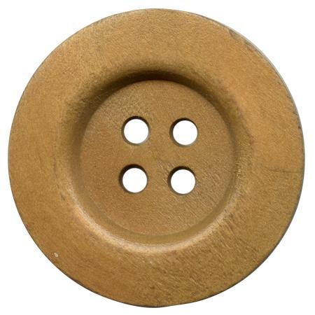 Bouton 4 trous ''bois'' marron clair - 3,8 cm