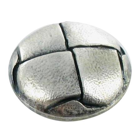 Bouton à queue ''façon cuir''  argenté clair - 1,5 cm