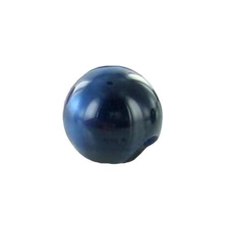 Bouton tunnel boule bleu nuit - 2,2 cm