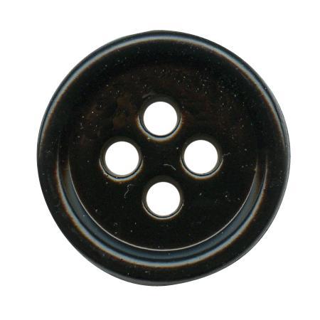 Bouton 4 trous urea noir - 1,5 cm