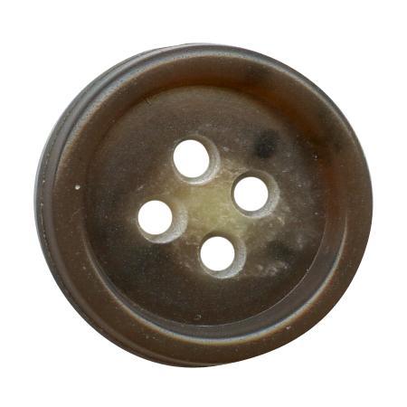 Bouton 4 trous urea marron - 2 cm