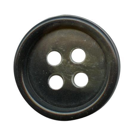 Bouton 4 trous urea chocolat - 2,5 cm