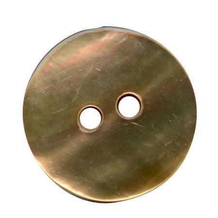 Bouton 2 trous nacre sable - 1,8 cm