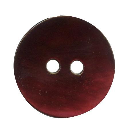 Bouton 2 trous nacre prune - 1,8 cm