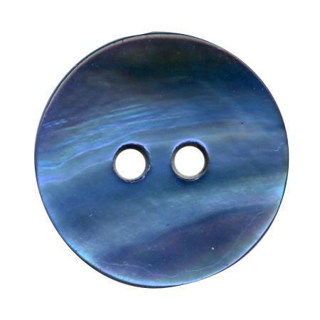 Bouton 2 trous nacre bleu roi - 2,8 cm