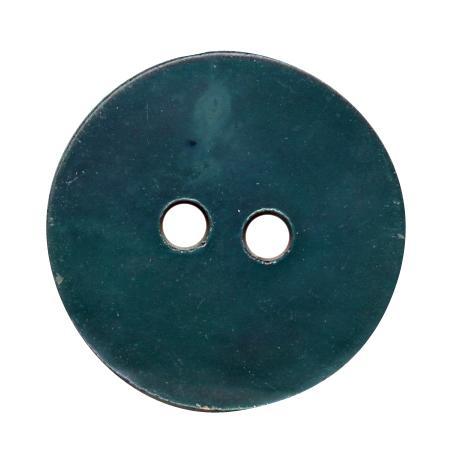 Bouton 2 trous nacre bleu turquoise - 2,8 cm