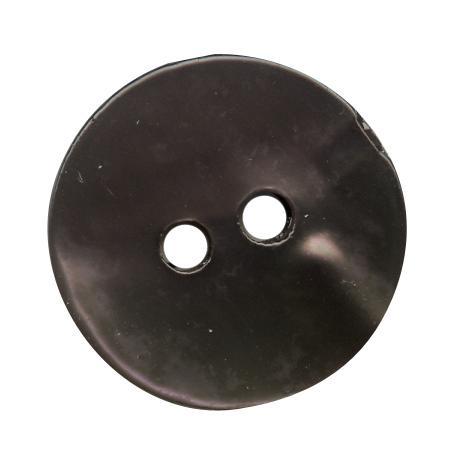Bouton 2 trous nacre gris - 2,8 cm