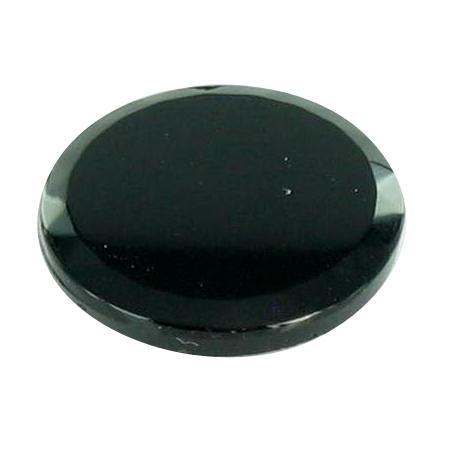 Bouton véritable jais à queue noir - 2,2 cm