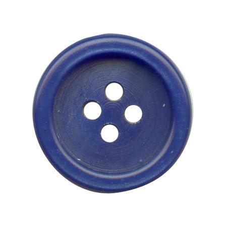 Bouton 4 trous galasatin bleu roi - 2,2 cm
