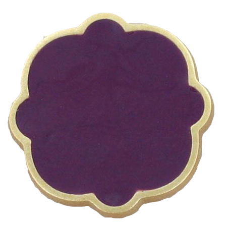 Bouton à queue veloutes vernis violet - 1,8 cm