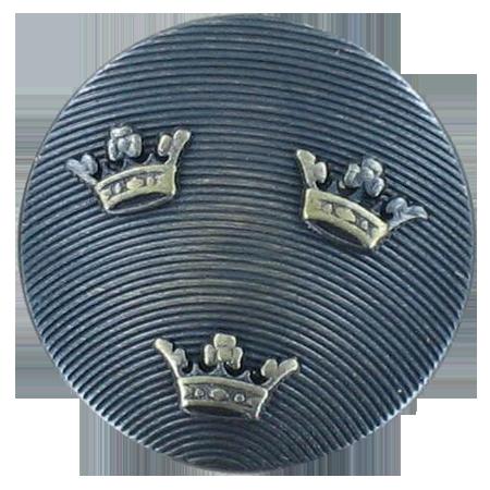 Bouton à queue couronnes argenté foncé - 1,5 cm