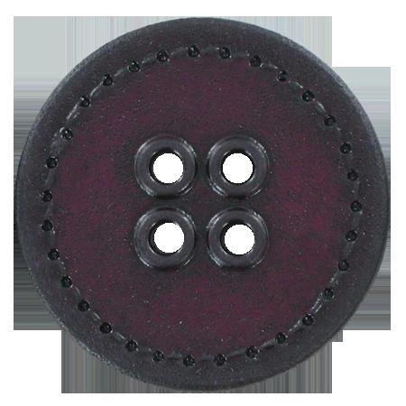 Bouton 4 trous sellier violet - 2,5 cm