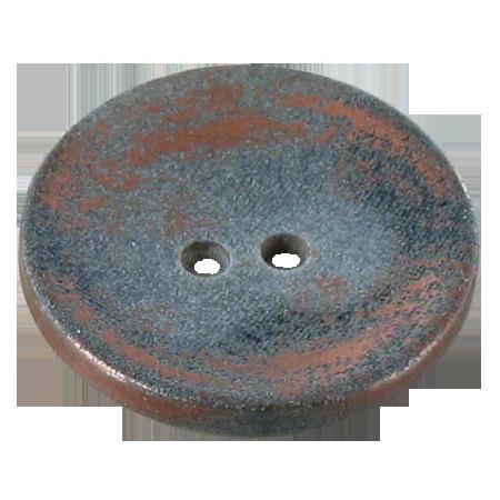 Bouton 2 trous métallisé bronze - 2,2 cm