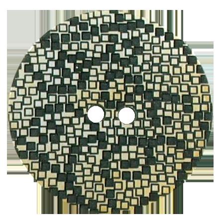 Bouton 2 trous mosaïque doré - 2,8 cm