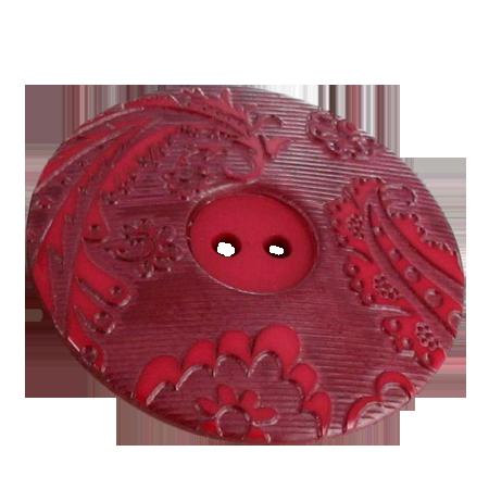 Bouton 2 trous rouge - 3,4 cm